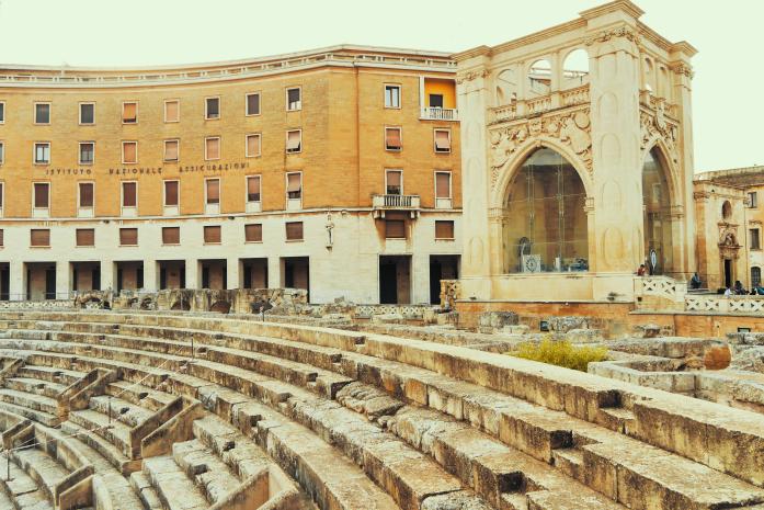 Weekend w Apulii zimą - amfiteatr w Lecce