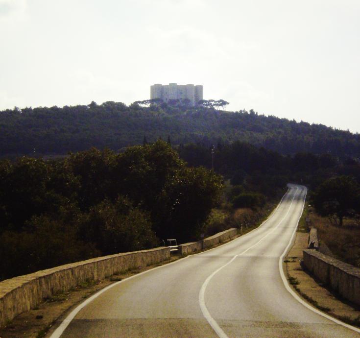 Weekend w Apulii zimą - widok z drogi