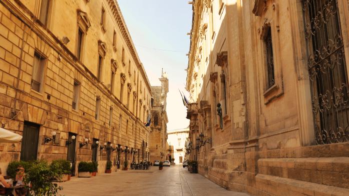 Weekend w Apulii zimą - uliczka w Lecce