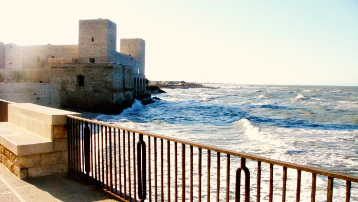 Weekend w Apulii zimą - zamek w Trani