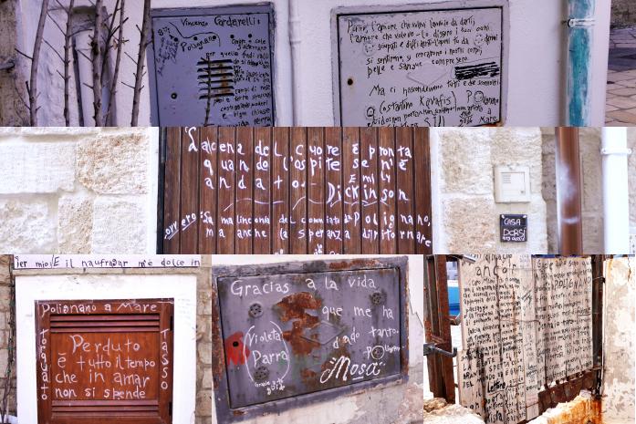 Cytaty na murach Polignano