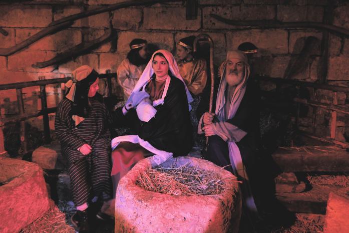 Żywa szopka - święta rodzina