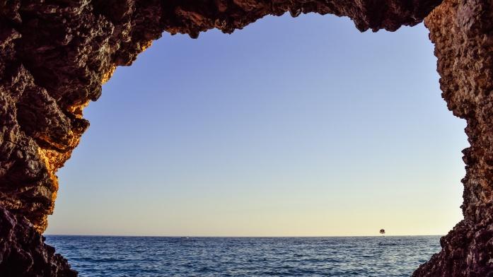 Apulia atrakcje - widok z groty