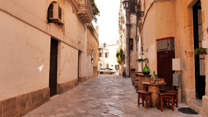 Apulia atrakcje - uliczka w Lecce