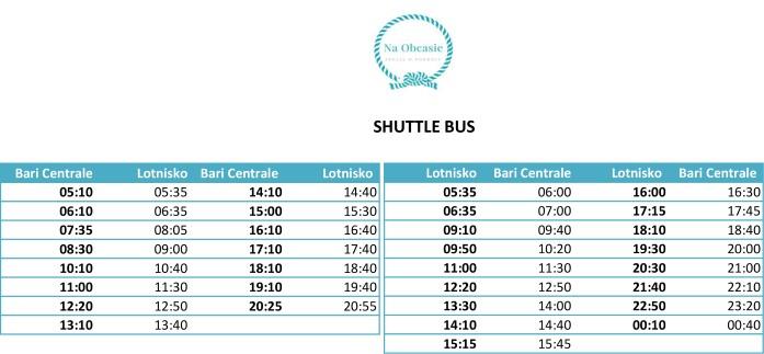 Jak dojechać z lotniska do centrum Bari - shuttle bus