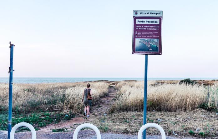 Plaże w Monopoli - Cala Paradiso